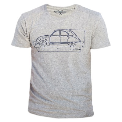 T-shirt blueprint 2cv taglia XL 1791304
